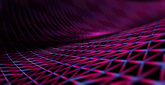 868704438 istock photo Mesh or net with lines and geometrics shapes detail.3d illustration 868704408