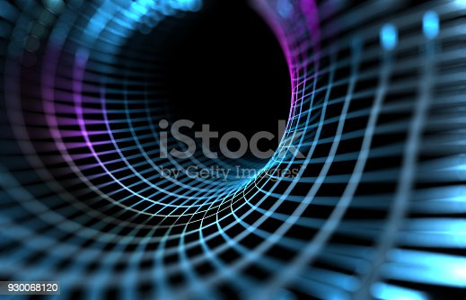 868704438 istock photo Mesh or net with lines and geometrics shapes detail.3d illustration 930068120