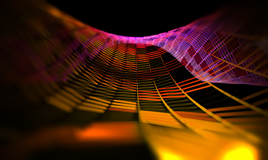 868704438 istock photo Mesh or net with lines and geometrics shapes detail.3d illustration 944319534