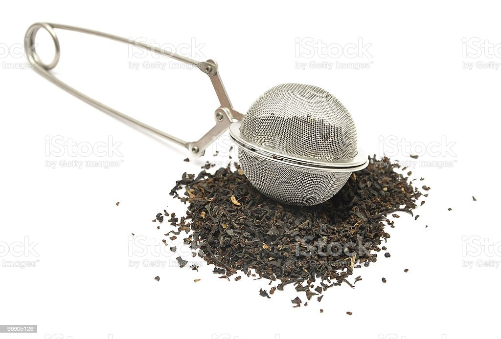 Mesh tea ball infuser royalty-free stock photo