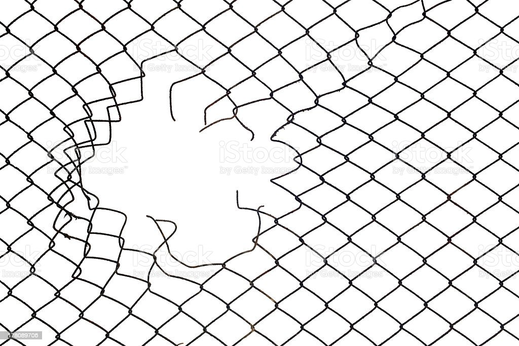 Mesh wire hole stock photo