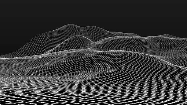 mesh wire scenery wire mesh scenery in black back land feature stock pictures, royalty-free photos & images
