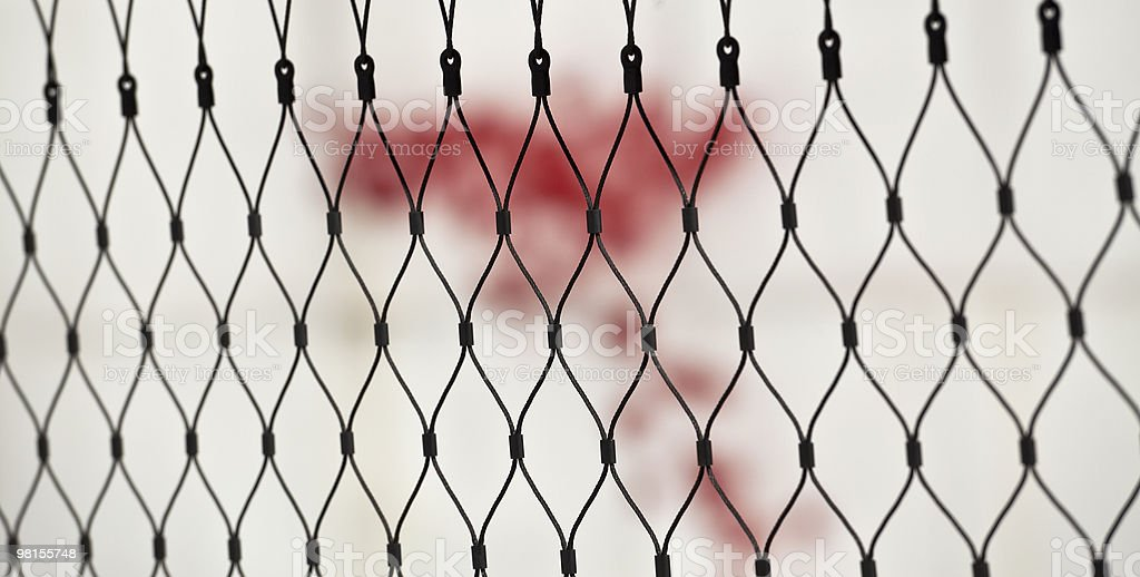 mesh with red paint board royalty-free stock photo