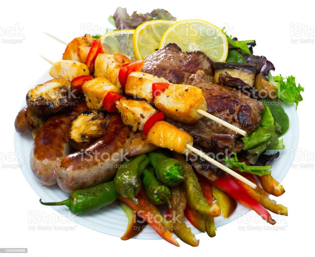 Meshana skara - dish of Bulgarian cuisine stock photo