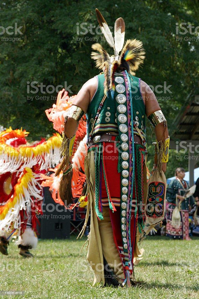 Meskwaki PowWow - Back Outfits royalty-free stock photo