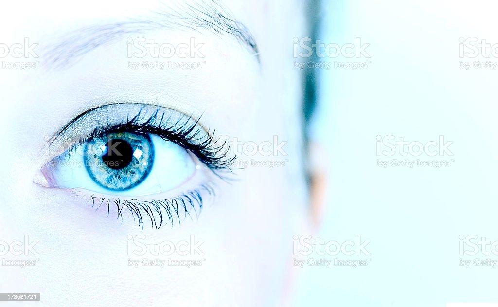 Mesmeric Blue Eye royalty-free stock photo