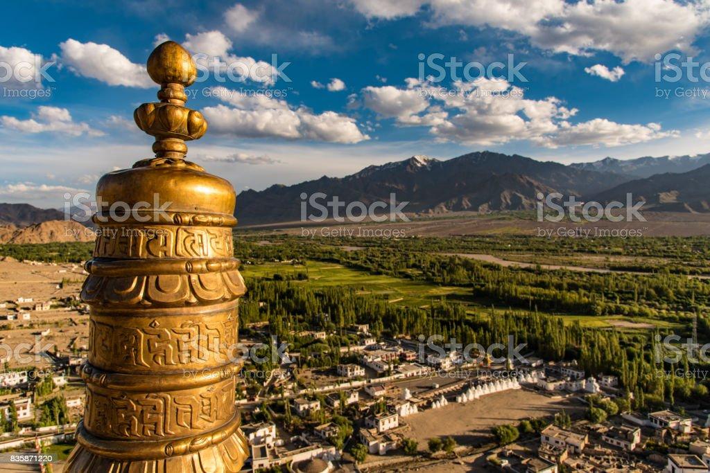 Mesmerising view of Indus Valley Leh Ladakh india stock photo