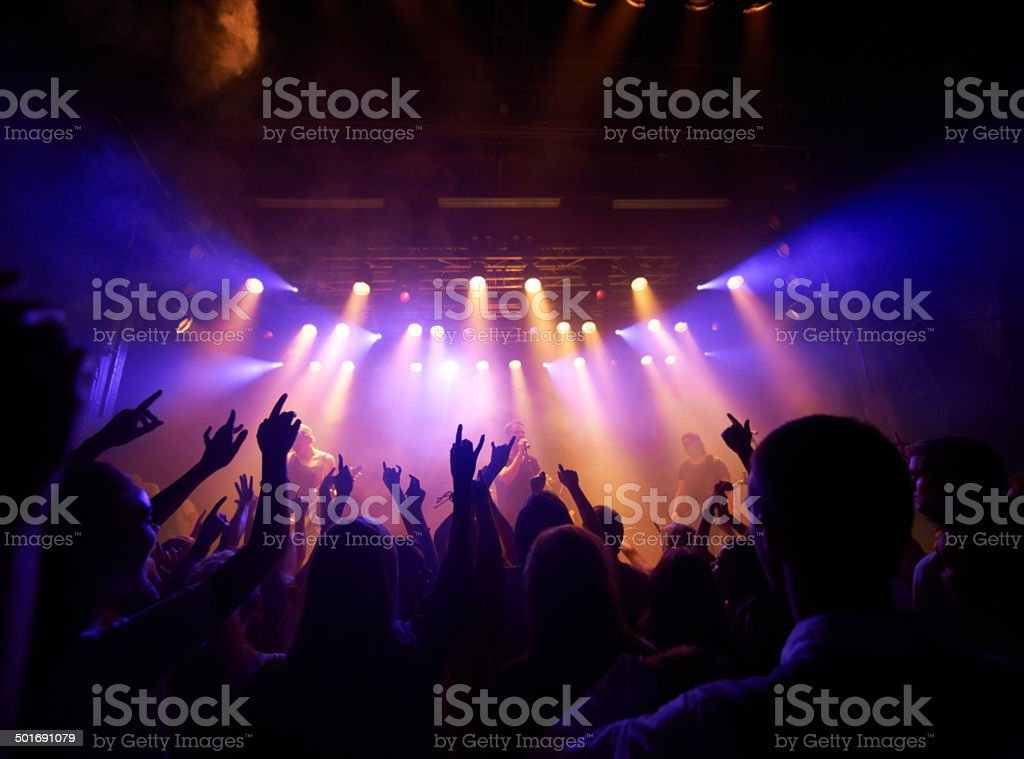 Mesmerized by the music stock photo