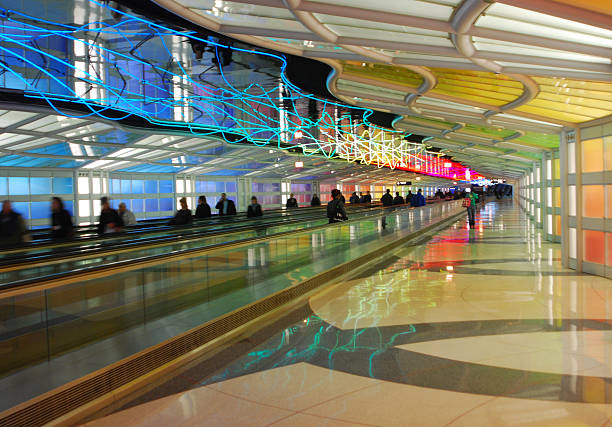 Meisterhafte Tunnel, Chicago O'Hare Airport – Foto