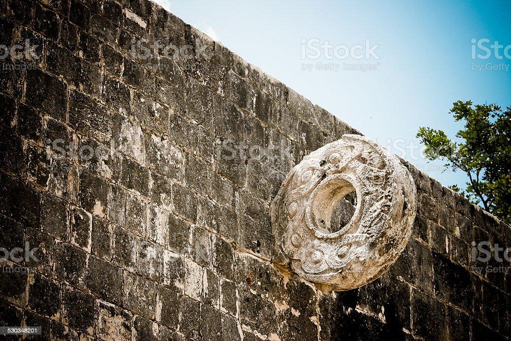Mesoamerican Mayan ballgame stock photo