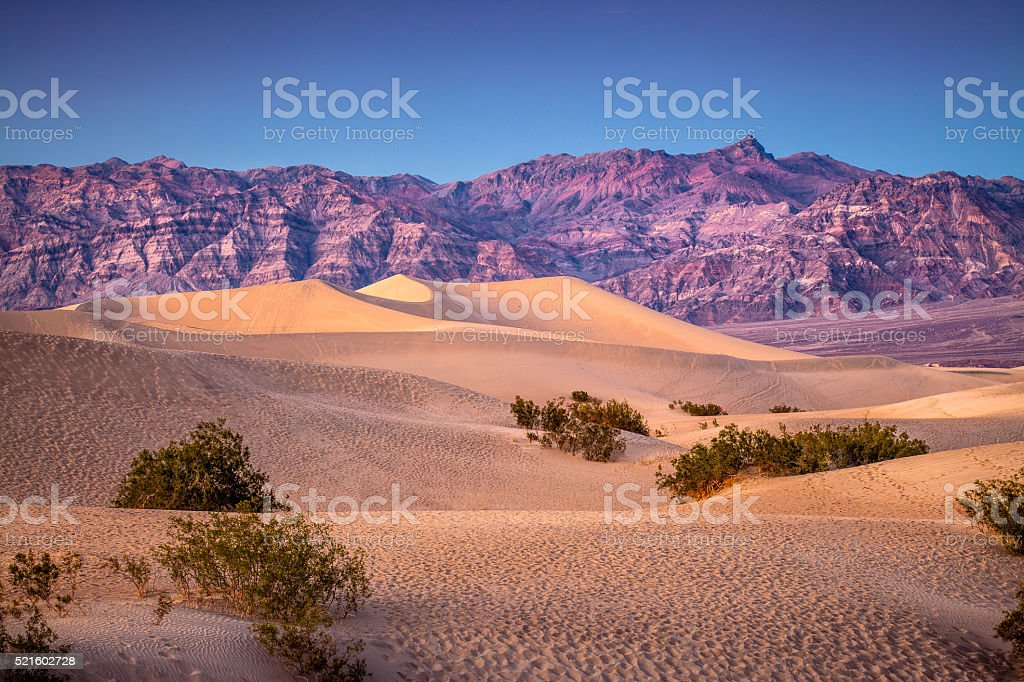 Mesquite Flat Dunes, Death Valley National Park stock photo