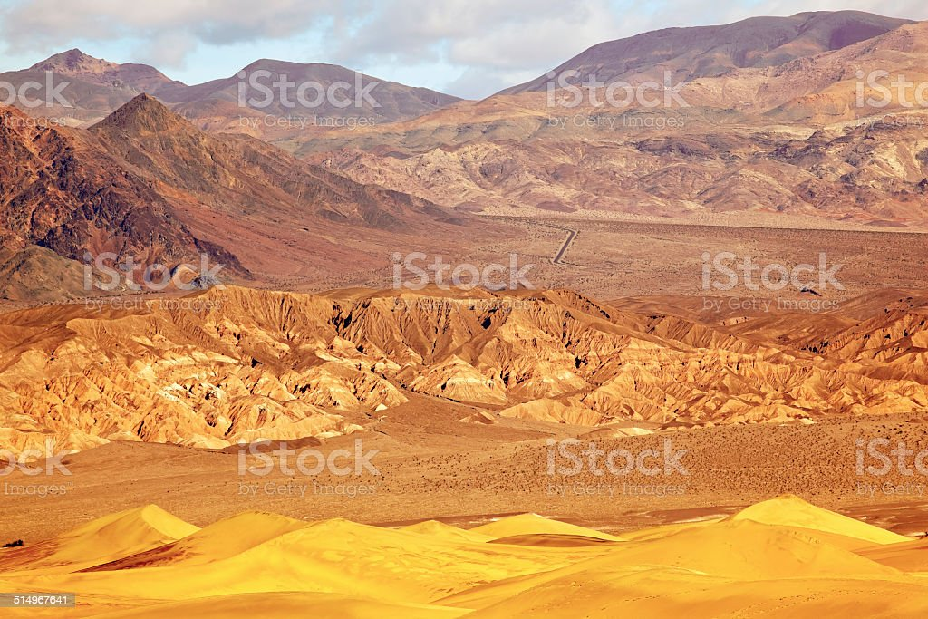 Mesquite Flat Dunes Grapevine Mountains Death Valley National Pa stock photo