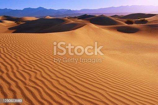 Mesquite Flat Sand dunes, desert landscape, Death Valley ,California USA