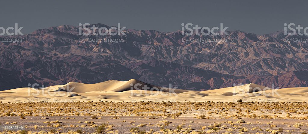 Mesquite Flat Sand Dunes stock photo