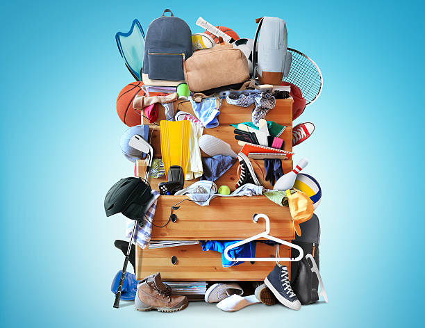 Mess, dresser stock photo