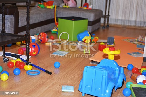 istock A mess in the children's room. 670534998