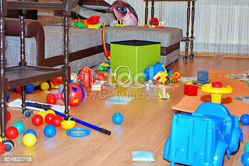 istock A mess in the children's room. 824832718