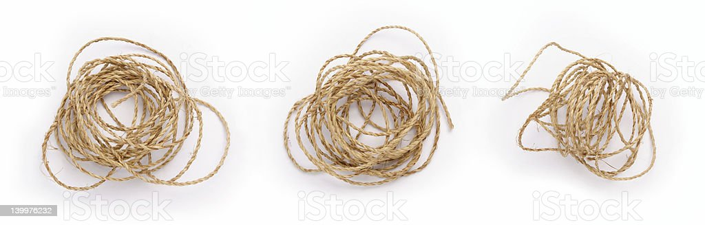 Mess Rope stock photo