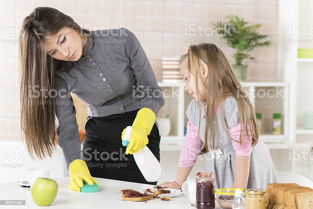 Mess with jam in the kitchen royalty-free stock photo