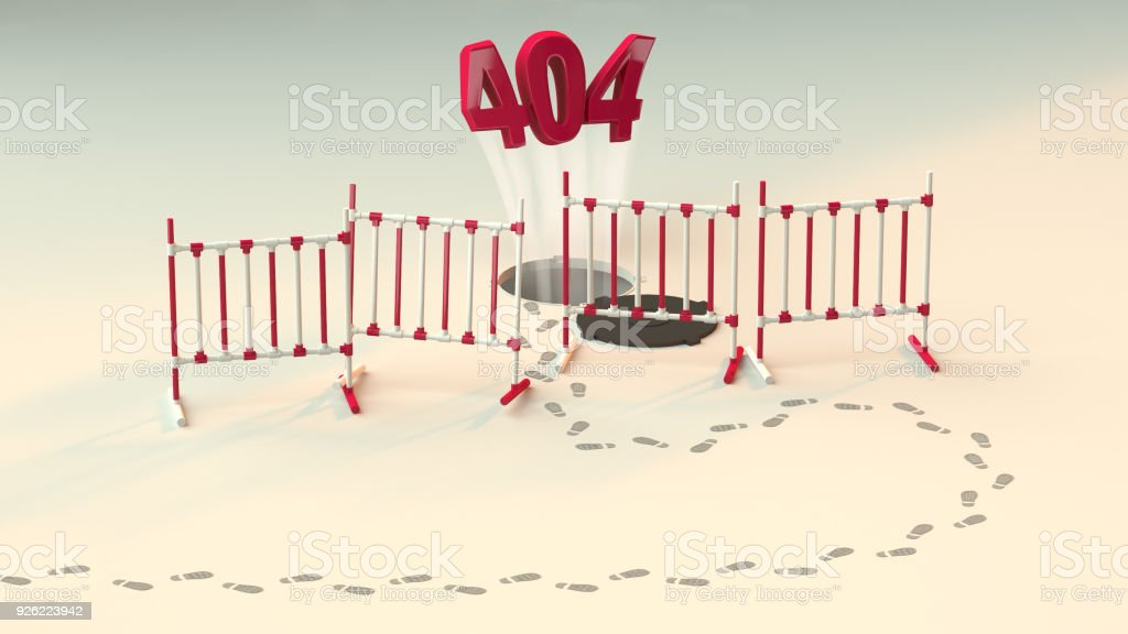 message about Page not found Error 404 out of the hole. Link to a non-existent page. something went wrong. stock photo