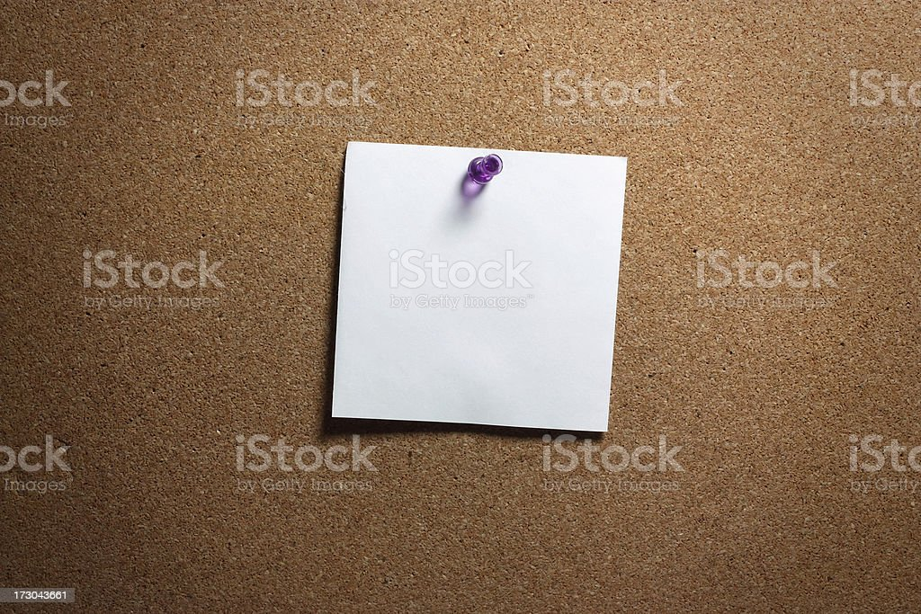 Message Board Note pinned on Cork royalty-free stock photo