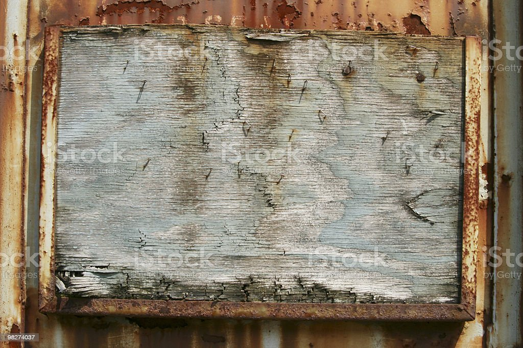 message board on train car royalty-free stock photo