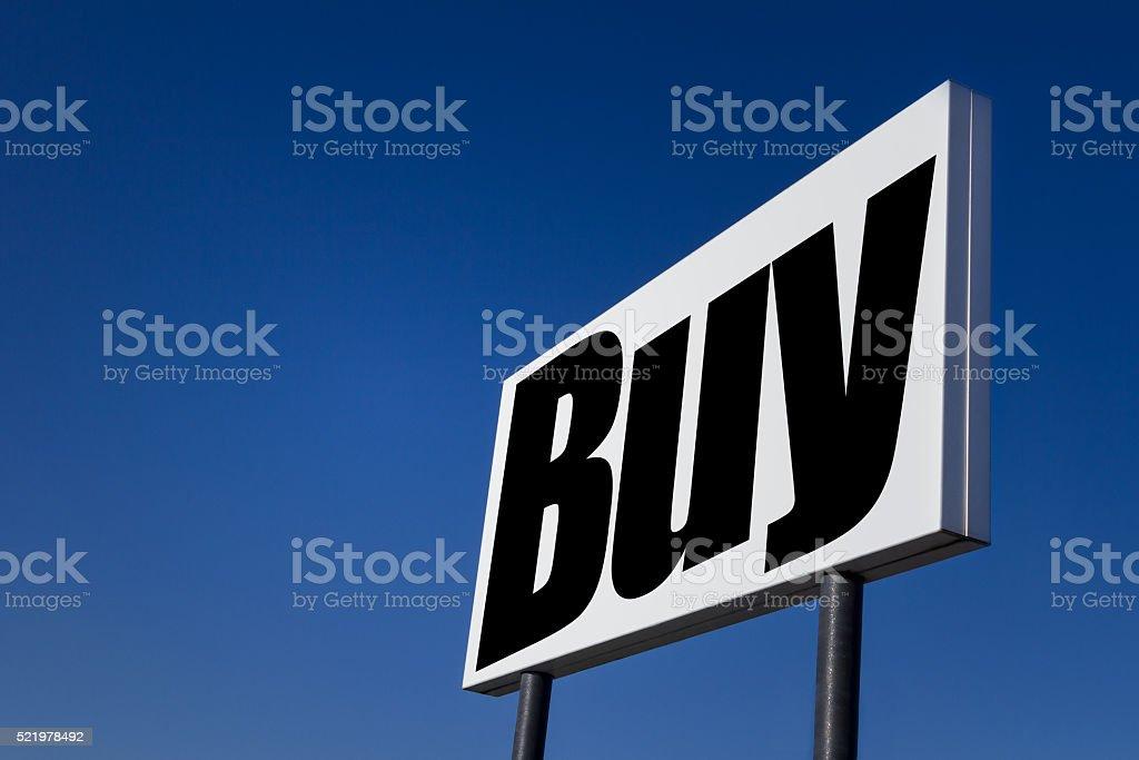 Message 'BUY' stock photo
