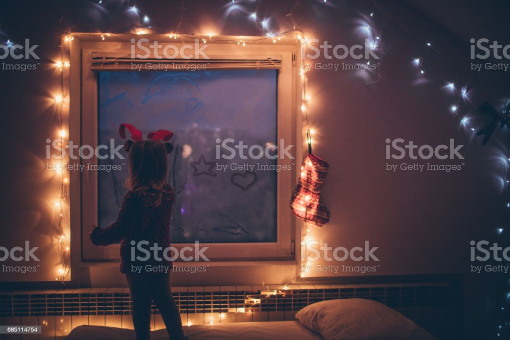 Message for Santa Claus stock photo
