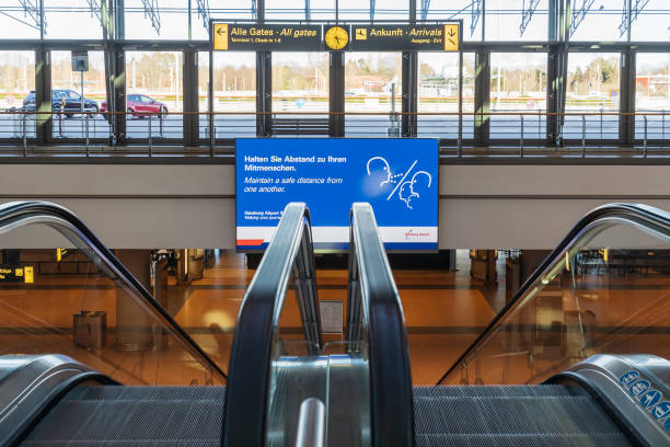 Message for the passengers entering the s-bahn station at the Hamburg airport