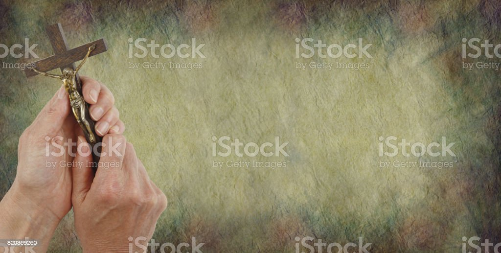 A Message from Christ Parchment Background stock photo