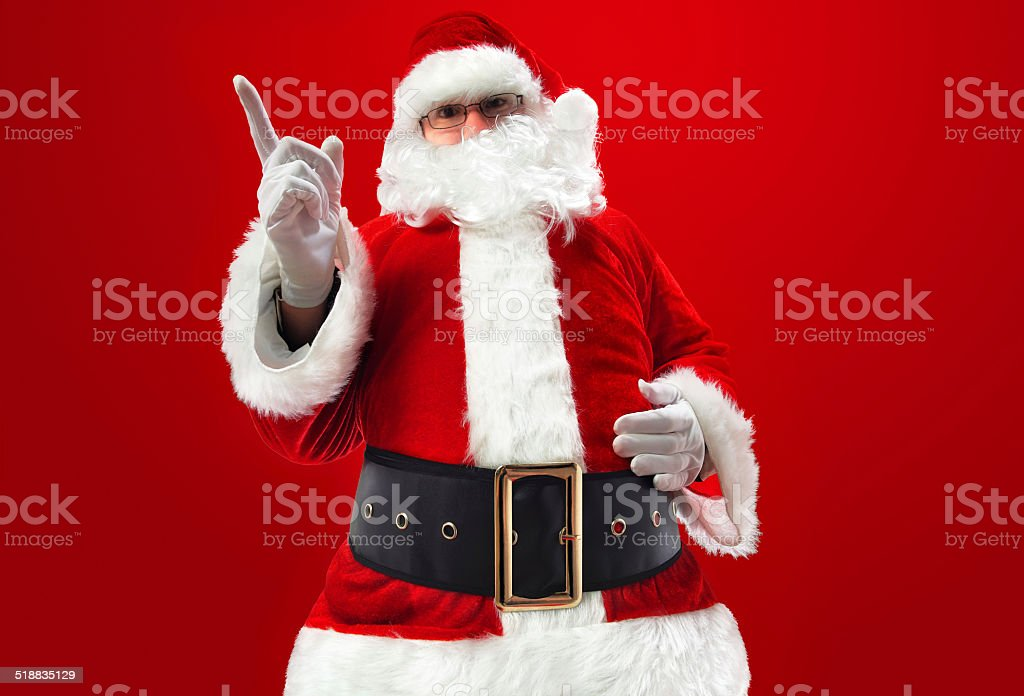 Message from Santa Claus stock photo
