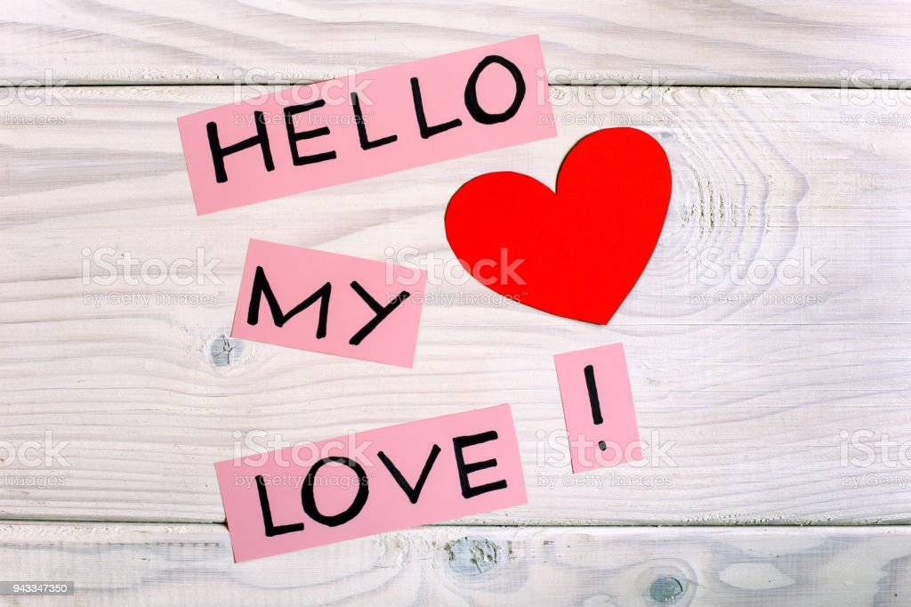Message Hello My Love Stock Photo Download Image Now Istock