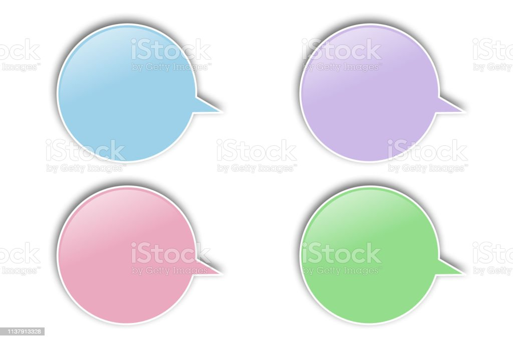 Message icons for Design parts,materials stock photo