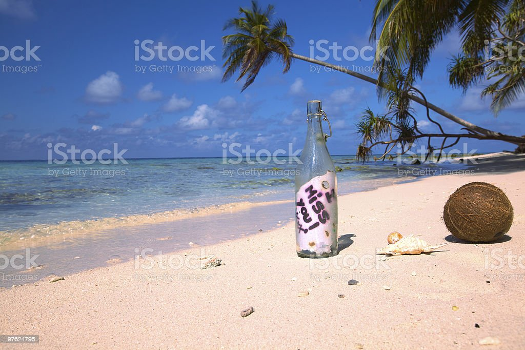 Message in a Bottle II! royalty-free stock photo