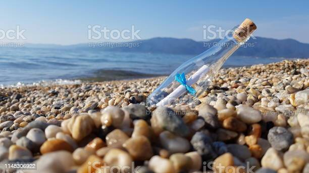Photo of Message in a bottle on beach