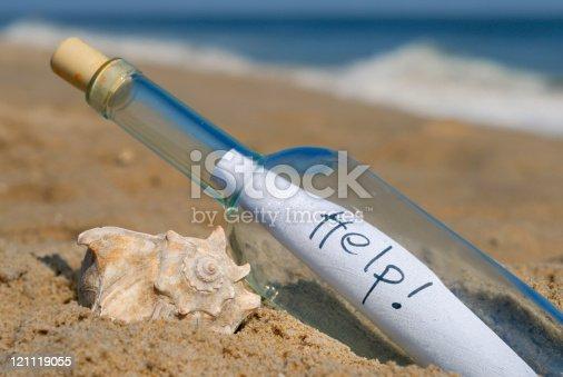 Plea for help in a bottle.