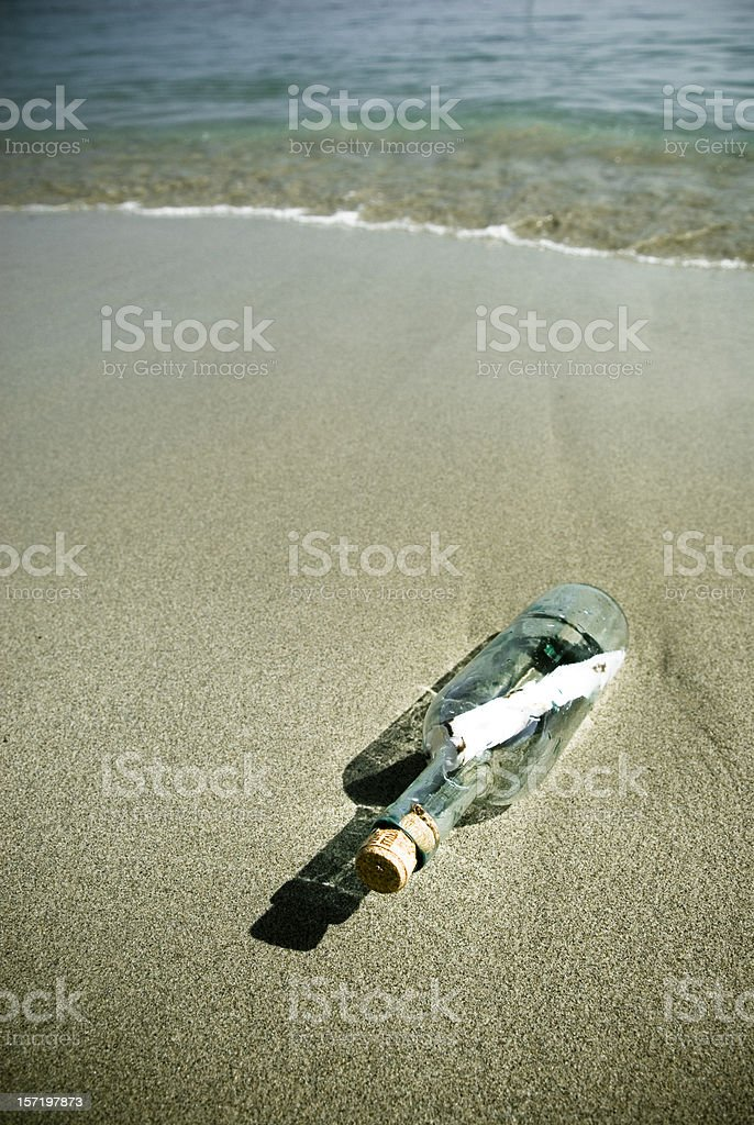 Message In A Bottle #1 royalty-free stock photo