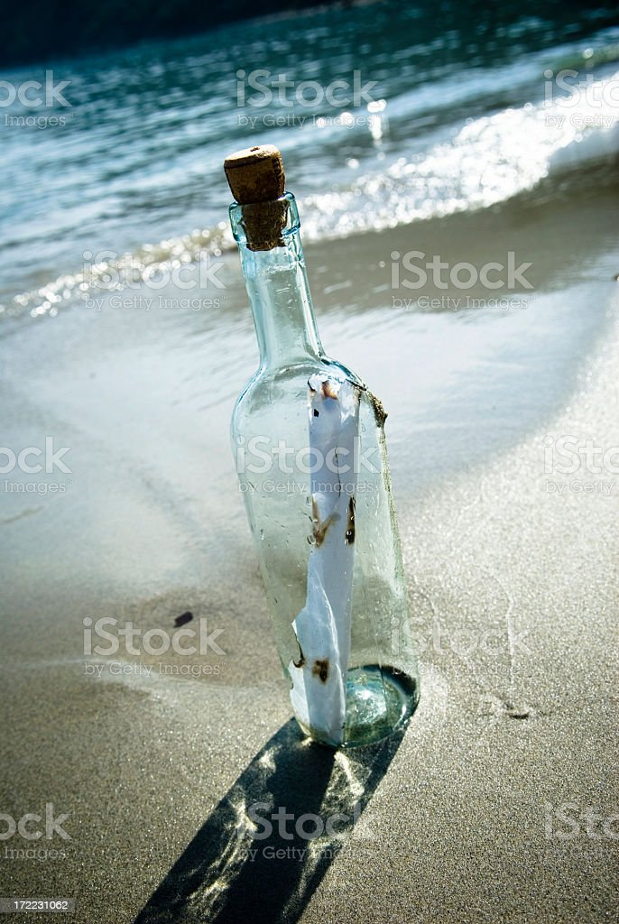 Message In A Bottle #4 royalty-free stock photo