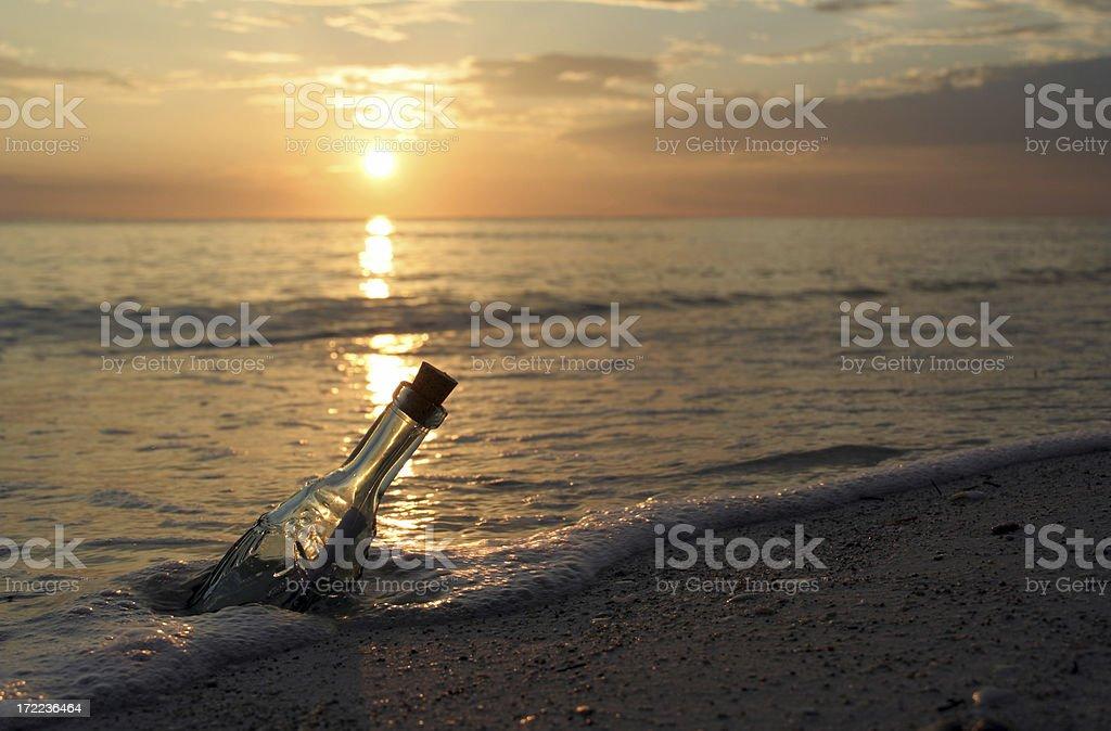 Message dans une bouteille - Photo