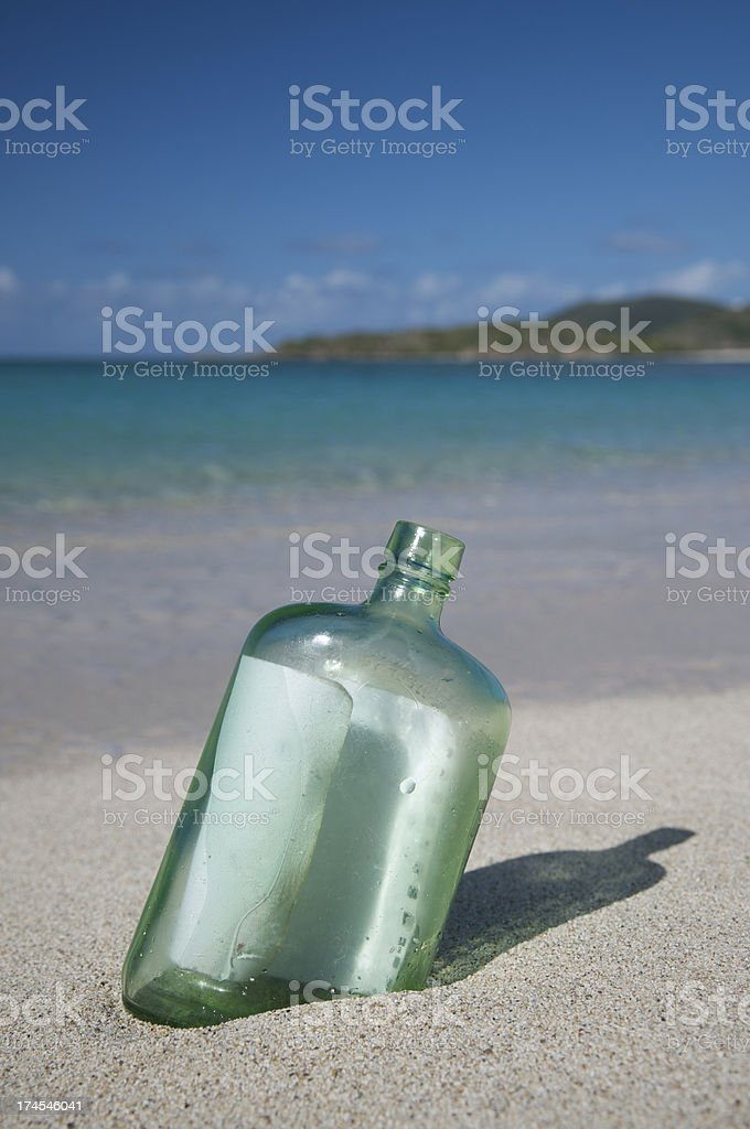 Message in a Bottle Vertical royalty-free stock photo