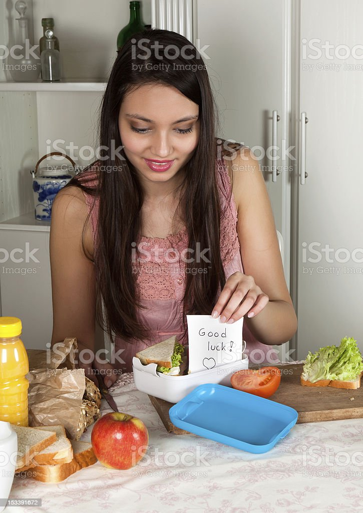 Message in a lunchbox royalty-free stock photo