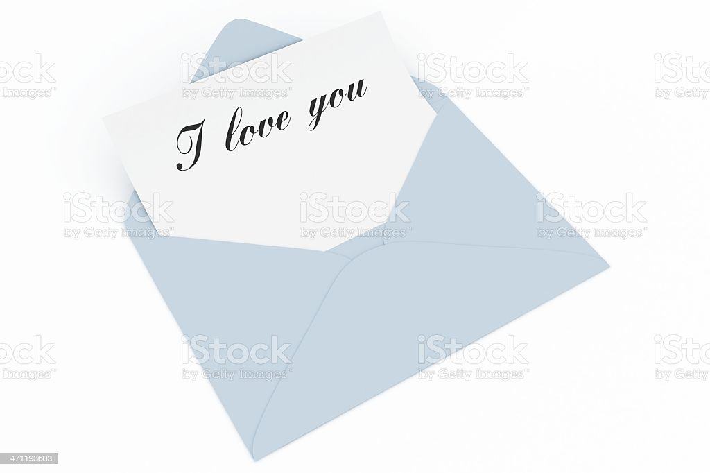 Message in blue envelope royalty-free stock photo
