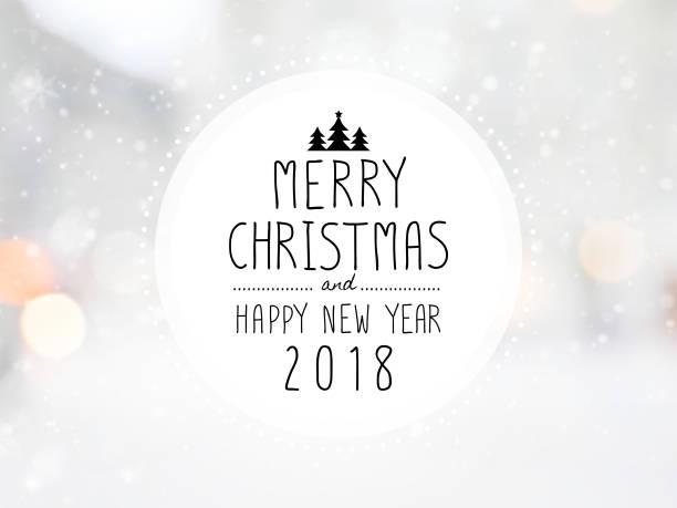 """meldung """"frohe weihnachten und happy new jahr 2018"""" - zitate weihnachten stock-fotos und bilder"""