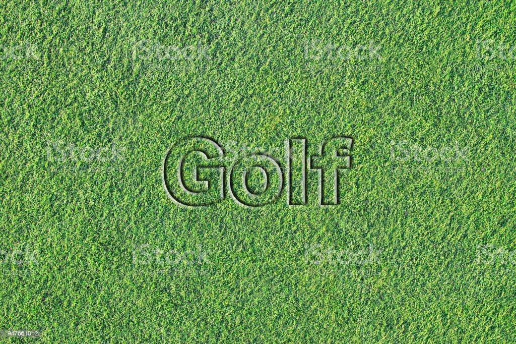 人工芝 (ゴルフ) のメッセージ ストックフォト