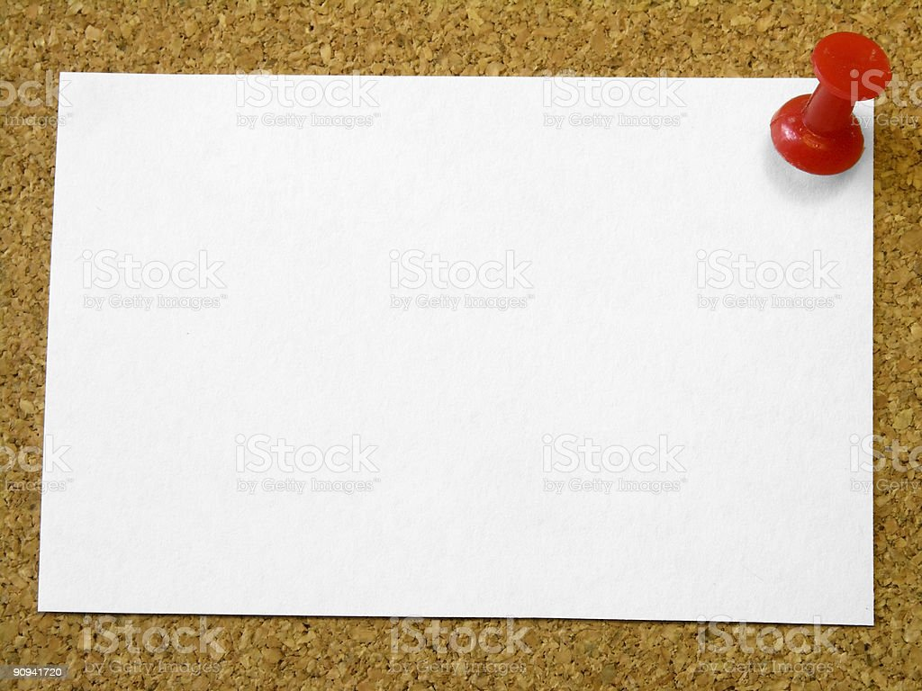 Message on the board royalty-free stock photo