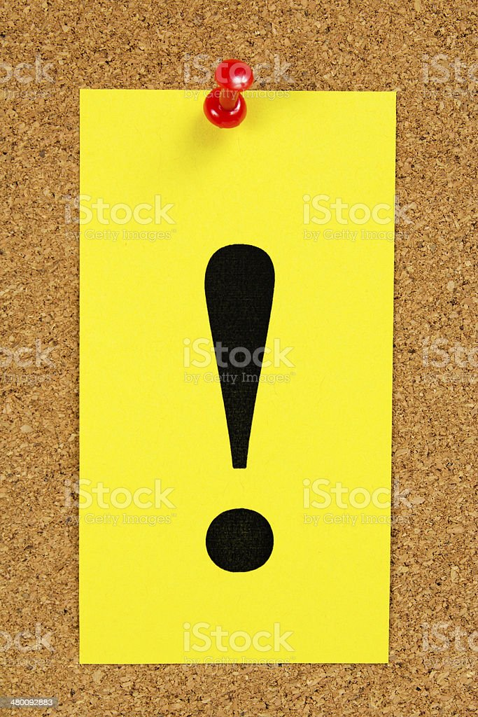 Message on the memo stick royalty-free stock photo