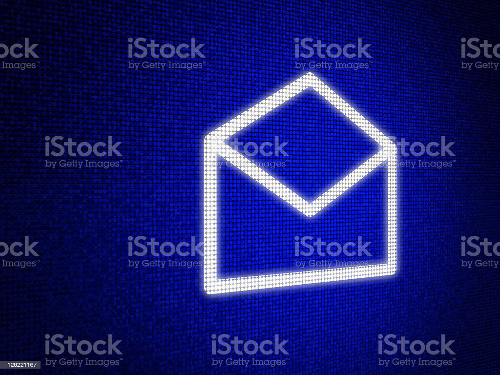 SMS Message Symbol on Screen royalty-free stock photo