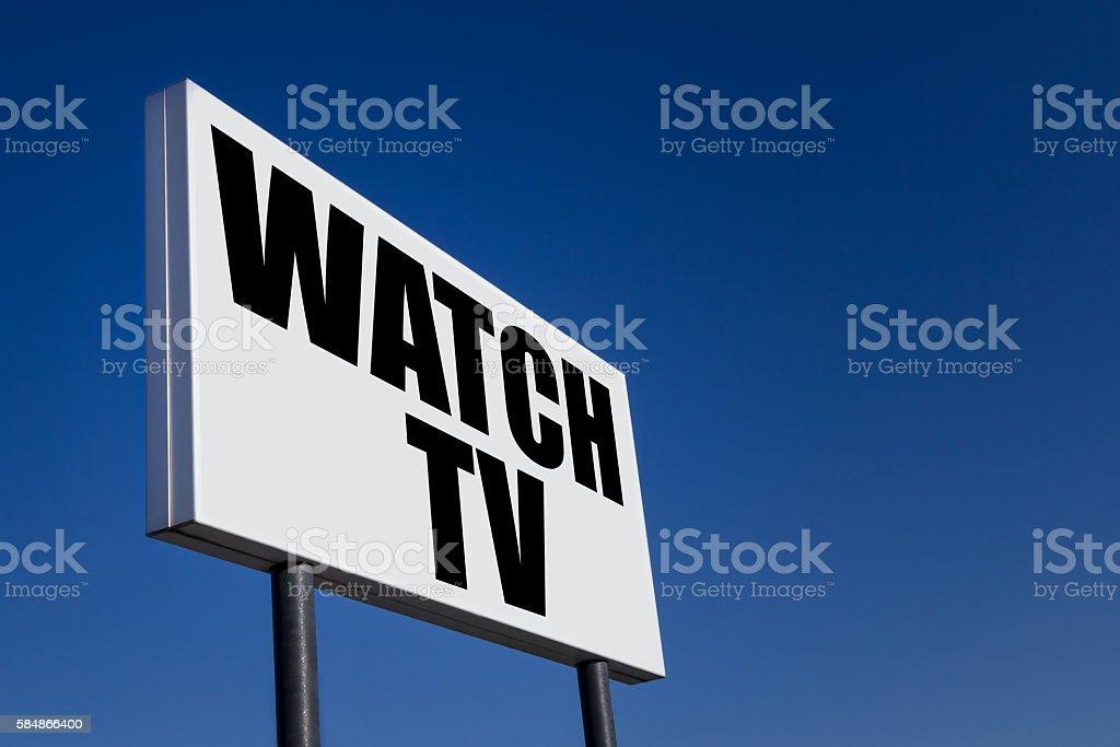 Message 'WATCH TV' stock photo