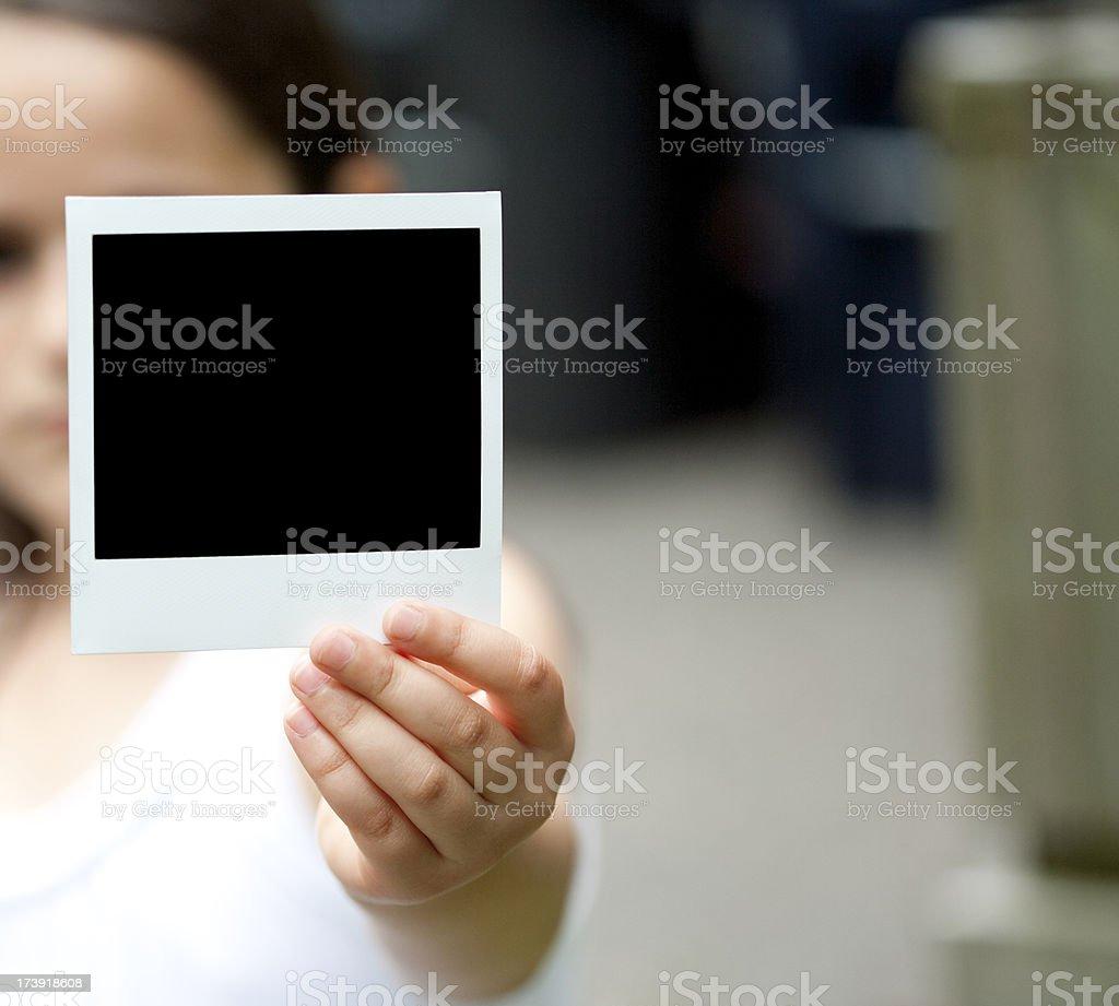 Message with polaroid photo frame royalty-free stock photo