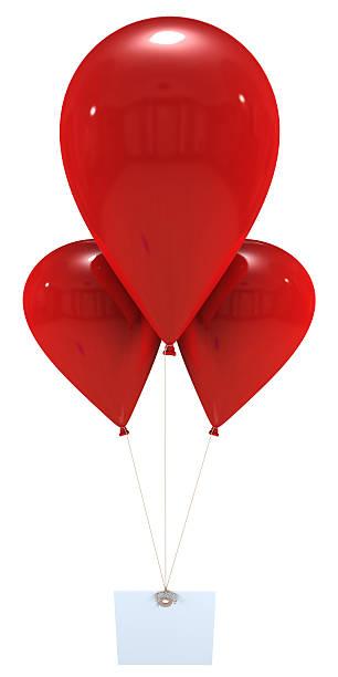 Message avec rouge, ballons - Photo
